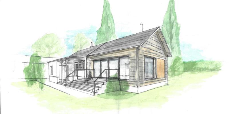 Anbau zur Wohnraumerweiterung in Holzständerbauweise