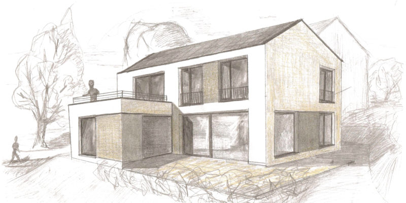 Neubau eines Einfamilienhauses mit KfW55-Standard